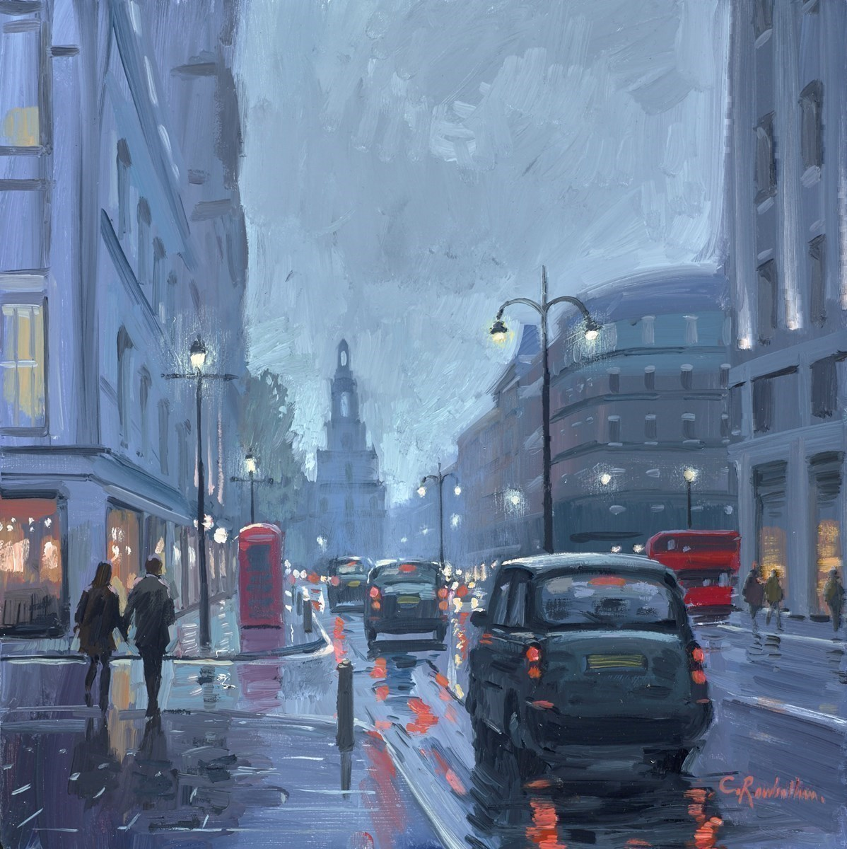 Rainy Evening, the Strand